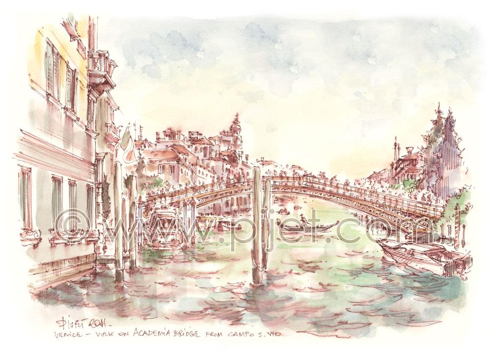 Venice, view on the Academia Bridge