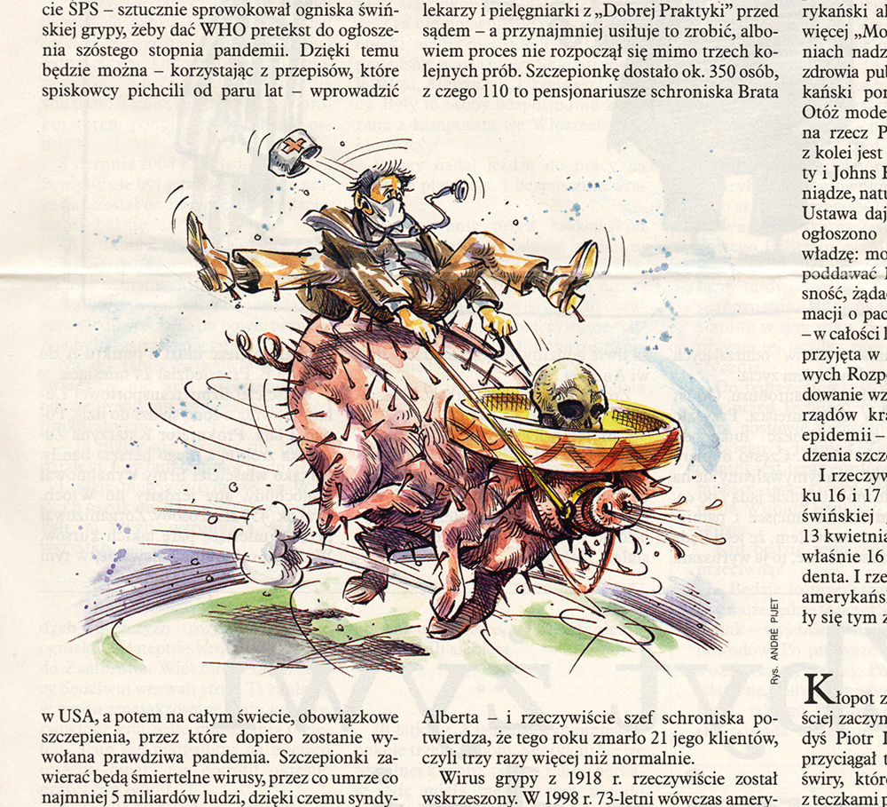Pijet, editorial illustration.