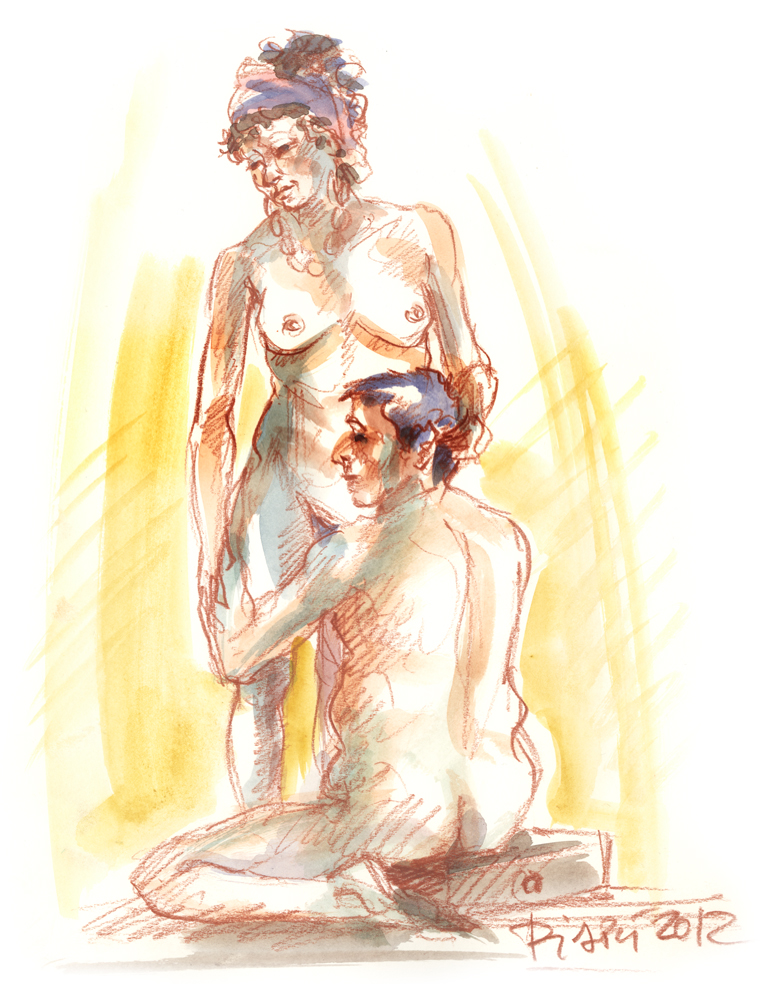 Nude Couple Male and Female